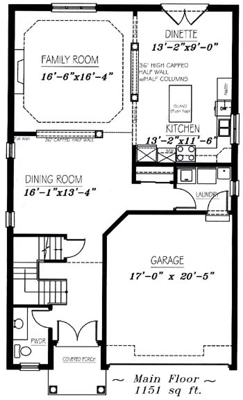 The arlington - Main Floor - Floorplan