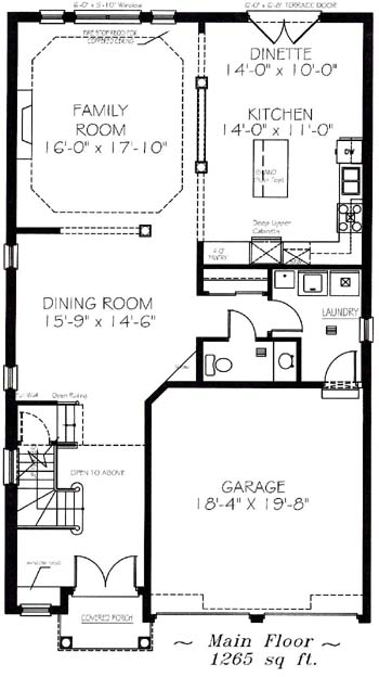 The linbrooke - Main Floor - Floorplan