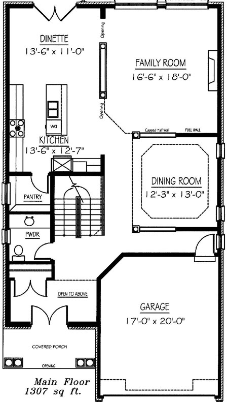 The pinecrest - Main Floor - Floorplan